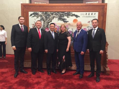 Eesti delegatsioon Hiina Rahvakongressi välisasjade komitee asejuhi Chen Guomingiga
